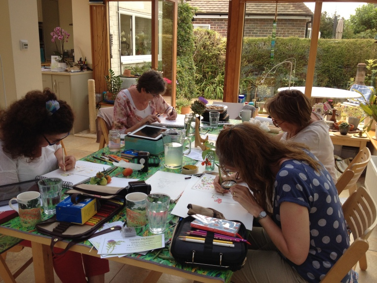 What concentration on a lovely summer day!