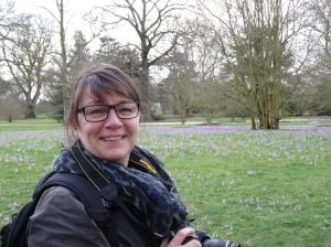 Tone Minde - admiring the crocus display at Kew.