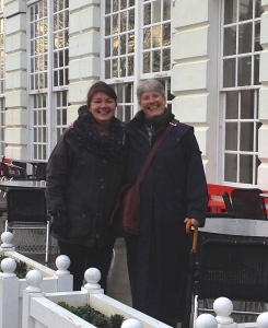 Tone and Gaynor outside the Orangery at Kew today, after deciding to form the Norwegian Society for Botanical Artists.