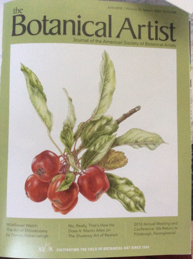 ASBA Botanical Artist quarterly magazine