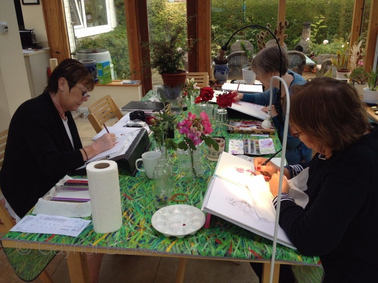 The Roses botanical art workshop