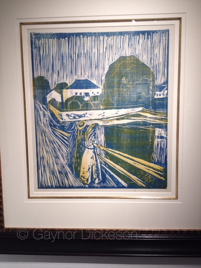 Edward Munch's 'Three girls on a bridge', painted actually in Åsgårdstrand.
